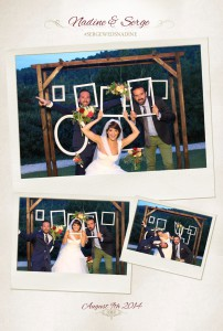 mise en page photobooth mariage