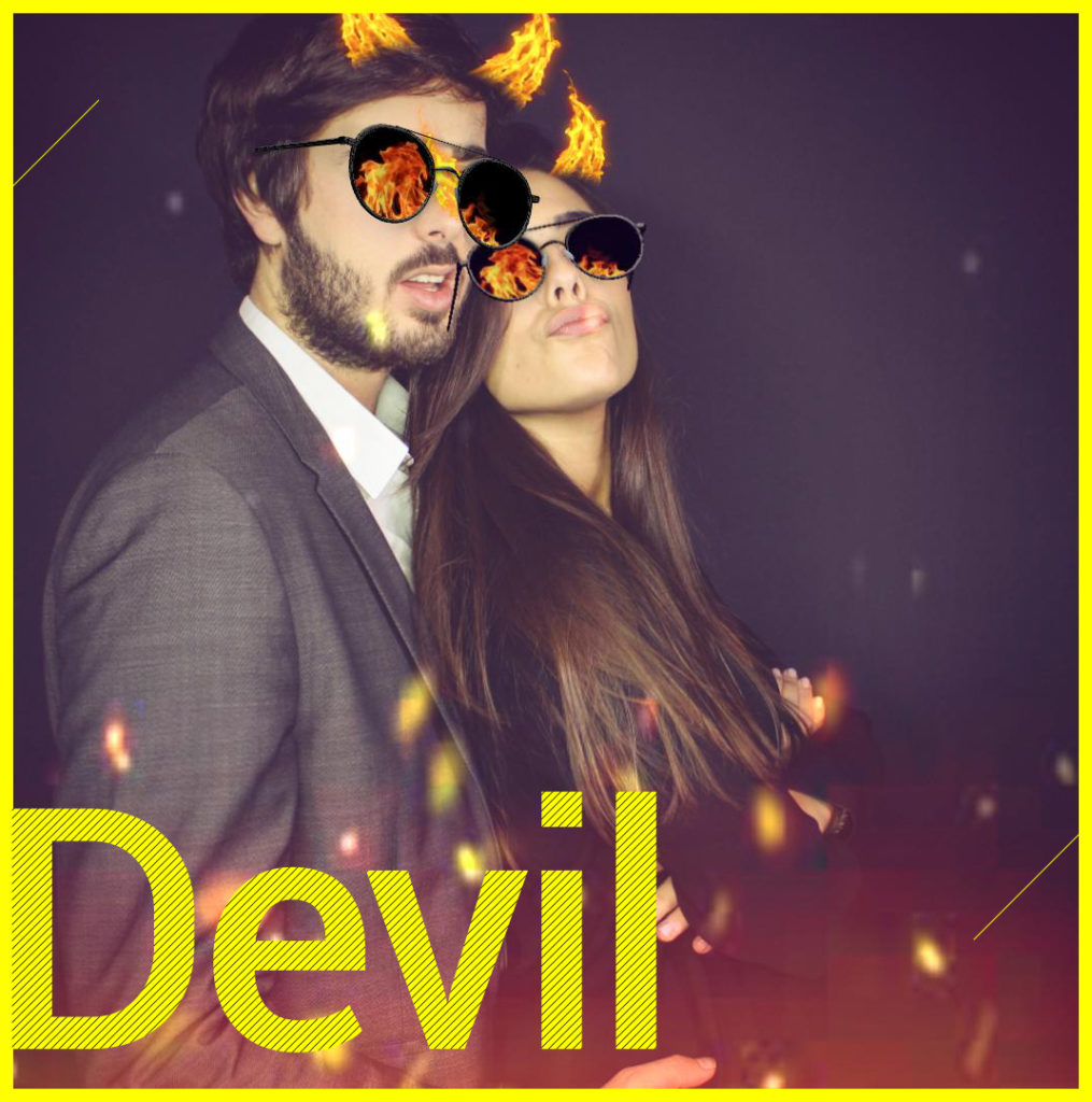 Photobooth Snapchat VIPBOX - Devil