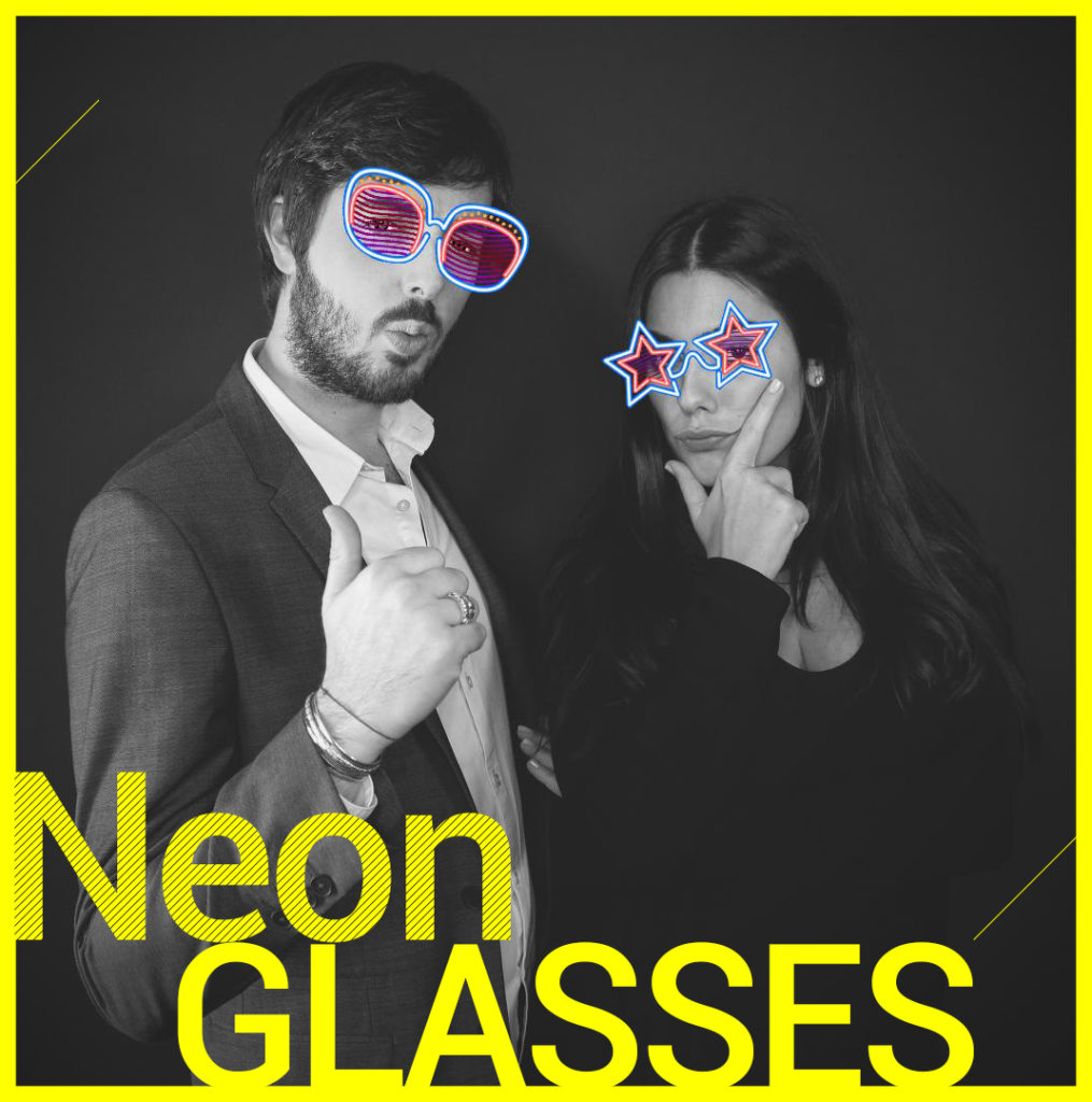 Photobooth Snapchat VIPBOX - Neon Glasses