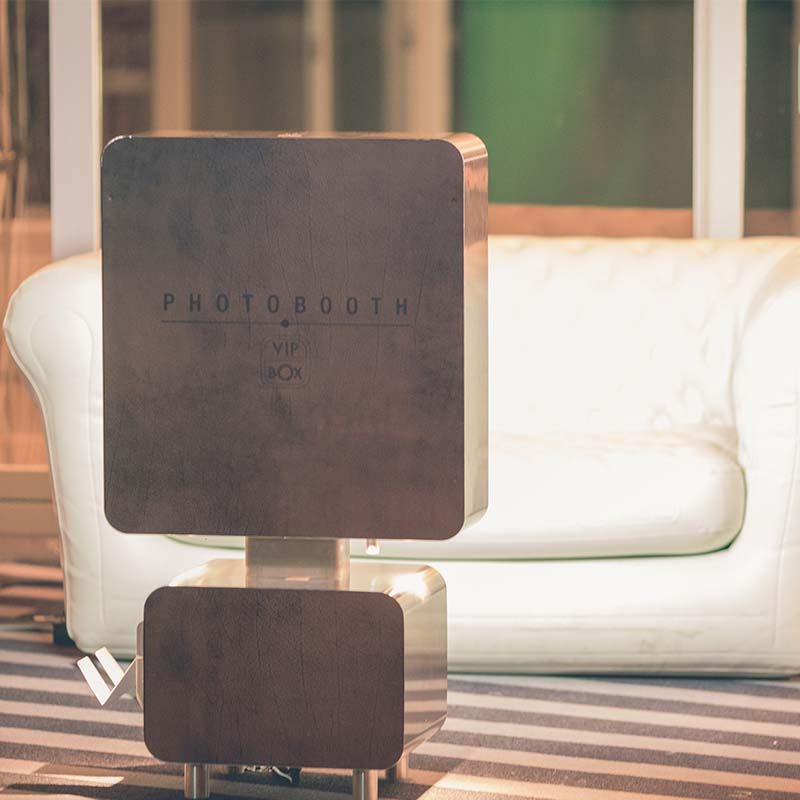 Photobooth inox et cuir